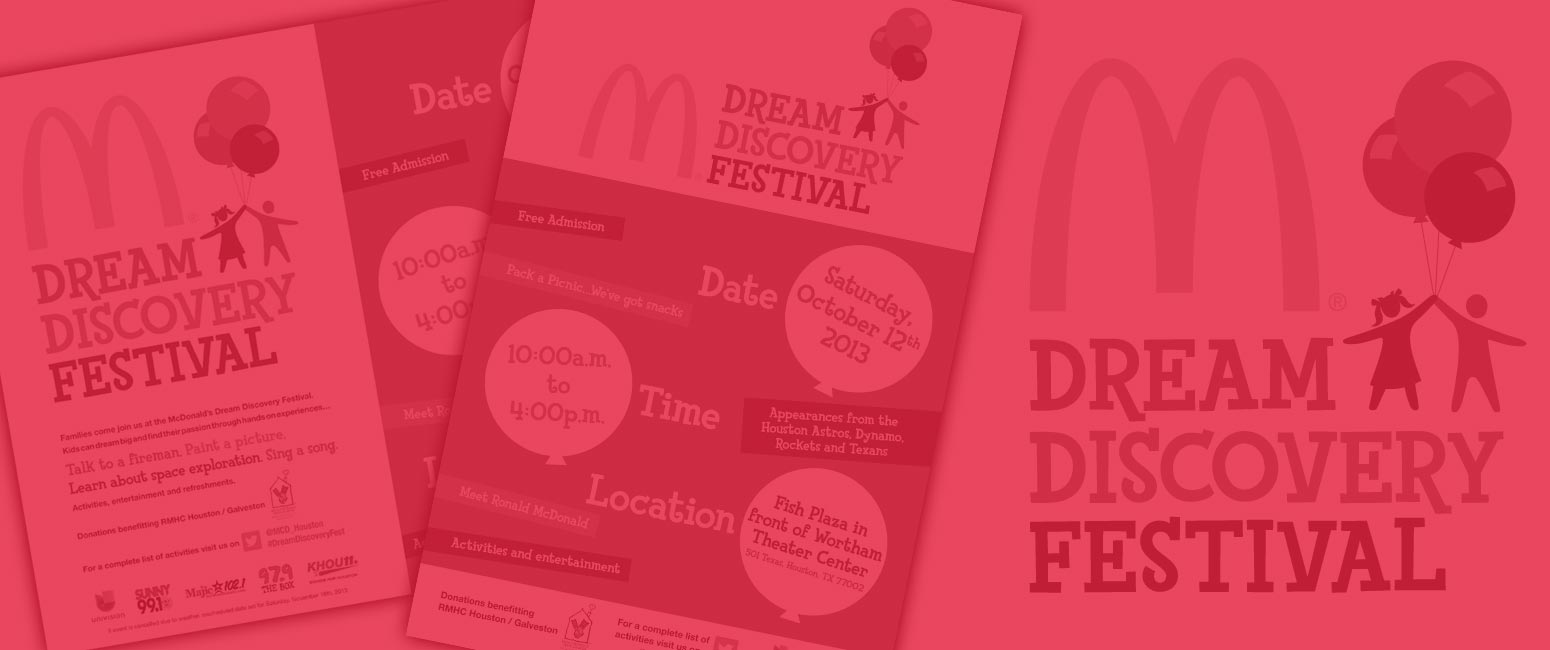 McDonald's Dream Discovery Festival Print Design and Branding